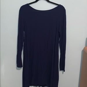 Dark blue long sleeve dress